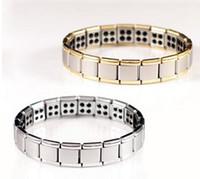 men titanium bracelet - 2015 new germanium Stones Titanium stainless steel bracelet for man R115