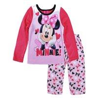 Wholesale Retail Minnie printed kids pajamas sets Cartoon baby pyjamas girl winter clothes christmas Long Sleeve girls sleepwear suits HX