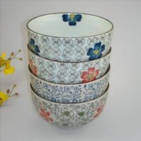 big salad bowl - 4 inch big belly ceramic porcelain bowls rice salad meal soup bowl household food container kitchen tableware