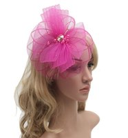 Wholesale 6Colors Fashion Women Fascinator Accessories Big Bow Hair Clips Lady Party DIY Hair Accessories