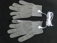 adult gloves - BDSM Electric Shock Gloves for Tens EMS Machine Bondage Gear Electro Shock Therapy Gloves Electricity Conductive Adult Games Sex Products