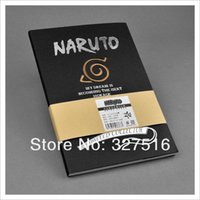 Wholesale Sells Japanese anime notebook Naruto One Piece Attack on titan Sword Art Online Death Note Totoro Gintama styles