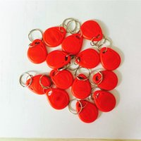 Wholesale 100pcs Proximity LF Khz EM ID RFID red Cards KeyTags Keyfobs with EM4100 TK4100 Chip for Access Control