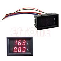 Wholesale DC V A Voltmeter Ammeter Red LED Panel Amp Dual Digital Volt Meter Gauge