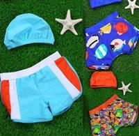 Wholesale Comined Styles New Kids Swimwear Beach Swim Trunks Boxers Bathing Suits Baby Swim Trunks Children Boys Swimwear Sets Beachwear