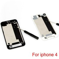 Wholesale Battery Back Cover Door Rear Glass Replacement for iphone G with screw black and white