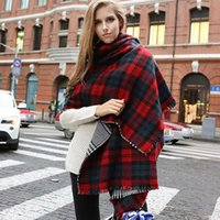 Wholesale Luxury Brand Scarf Women Fashion Plaid Knitted Scarf Cashmere Shawls and Scarves Warm Winter Scarf HB151105