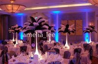 Wholesale Price inch cm cm Black Ostrich Feathers Plume Wedding Decoration Table Decoration Hair Decoration
