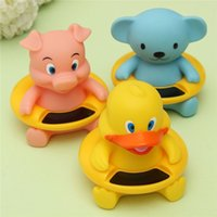 Wholesale 1PC Animal Shapes Baby Bath Shower Thermometer Temperature Cute Safety Pig Duck Bear Plastic Resin Electronic Components order lt no track