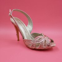 beaded leather sandals - 2016 Plus Size Wedding Shoes Light Pink Rhinestone Fashion Buckle Strap Cheap Bridal Shoes New Arrive Plus Size Real Image High Thin Heels