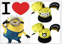 Wholesale New Fashion Minions Plush Hats Jorge Dave Stewart Cosplay Cap Despicable Plush Hat snapback hats Street Headwear for adults and kids