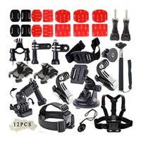 Wholesale Common Outdoor Sports Kit Accessories for All Gopro Hero4 Silver Black Hero Sj4000 Sj5000 Sj6000 Sports Camera