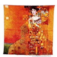 adele bloch - Pure Silk Scarf Gustav Klimt s quot Donna Con Ventaglio quot aka quot Adele Bloch Bauer I quot cm Square