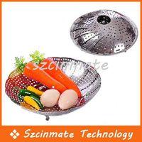 Wholesale Folding Stainless Mesh Food Dish Vegetable Fruit Steamer Basket
