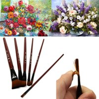 artist pastels - Best Selling Artist Nylon Hair Acrylic Drawing Oil Pastels Watercolor Water Chalk Painting Gouache Handle Paint Brushes
