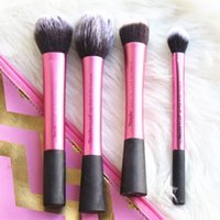 real techniques makeup brush - 2015 Hot Great Quality Real Techniques Pink Single Piece Blush Sculpting Setting Stippling Brush Perfected Contour Definition makeup brushes