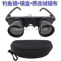 opera binoculars - x28 Magnifier Glasses Style Fishing Optics Binoculars Telescope Opera Theater Black With Carrying Case