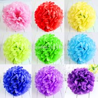 Wholesale 10 quot Wedding Party Home Birthday Tissue Paper Pom Poms Flower Balls Outdoor Decorative Diameter cm
