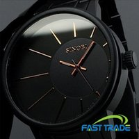 Cheap Japan Quartz Movement Never Fade Black Full Stainless Steel SINOBI Brand Wristwatches Luxury Business Causal Men Watch