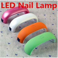 Wholesale Mini LED Nail Lamp Dryer UV Curing Lamps W V V LED Gel Nail Dryers LED UV Light Nail Lamp With S Timer For Nail Art Tool Polish