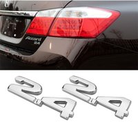accord decals - 3D Metal Toyota Accord Displacement Car Tail Emblem Stickers Auto Decal Decorations Car Capacity Styling Emblems Accessory