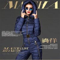 bamboo fashion garments - Womens Down Coat One piece Garment Clothing Real Big Raccoon Fur Printed Outerwear Winter Warm With Belt Butoon Cardiagn Down Parkas