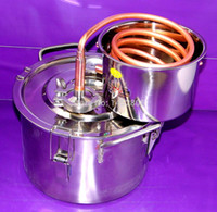 Wholesale DIY Home Gal Litres Alcohol Wine Whisky PRO Distiller Moonshine Ethanol Copper Still Stainless Boiler amp Thumper Keg
