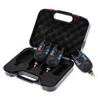 audio visual sales - Hot Sale LED Wireless Fishing Bite Alarms Set Water Resistant Sound Audio Visual Fishing Alert With Plastic Case