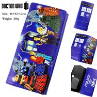 Cheap Anime Cosplay Doctor Who Colored Cartoon Character Long Section PU Wallet Anime Clutch Bag X1012