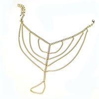 barefoot books - ShineLi Girl Tassel Chain Anklet Foot Toe Ring Barefoot Sandal Beach Jewelry Book