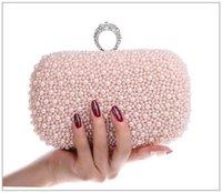 Wholesale 2016 Luxury Crystal Diamond Ring Evening Clutch Bag Purses Women s Wedding Party Prom Bridal HandBags