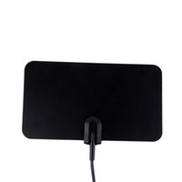 Wholesale Digital Indoor TV Antenna HDTV DTV HD p TV Box Ready VHF UHF Flat Design High Gain HD TV DTV Box with Stand Mount Holder