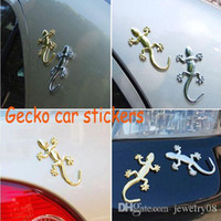 Wholesale Fashion ABS Truck Car Sticker Decor Styling Cool D Emblem Lizard Gecko solid Cars Trucks Logo Stickers Decal