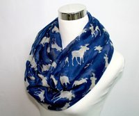 animal infinity scarf - Moose Infinity Scarf Loop Snood For Women Ladies New Fashion