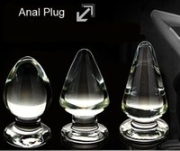 Wholesale new arrival clear crystal anal plugs and butt plugs sizes optional sex toys price