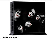 Cheap 1Set Wholesale Joker Batman Game Vinyl Decal Skin Sticker For PS4 Console PVC Sticker for Playstation 4 PS4 Controller Games free shipping