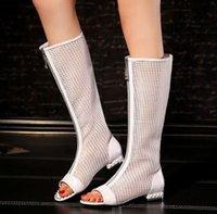 Cheap Womens sandals knee high gladiator sandals women Summer boots
