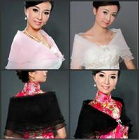 Wholesale Multi Colors Organza Spring Summer Wrap Shawl Coat Jackets Boleros Shrugs Wedding Bridal Bridesmaid Stole Capes Cheap