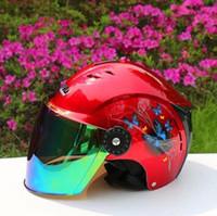 Wholesale Electric motorcycle helmet men and women in the summer sun block uv lens BanKui