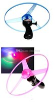 Wholesale LED Luminous Flying Saucer Toy Child UFO Toys Outdoor Glow Frisbee Christmas Gifts