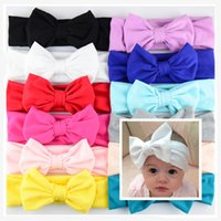 big baby birth - DHL C Cotton Headbands With Big Bows For New Birth Baby Girls Top Quality Headwear For Kids FDA07
