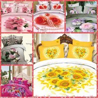 bedding hot comforter set - Home Texiles d Floral Peony Printing Bedding Sets Queen Size Bedclothes Duvet Quilt Cover Sheet Bed Spreads Cotton Hot Sale