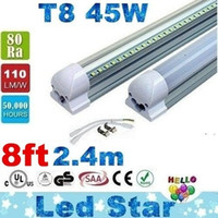 T8 led white high bright - NEW Integrated m ft W Led T8 Tube Lights SMD2835 Leds High Bright lm Warm Cool White Frosted Transparent Cover V