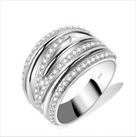 anillos de plata - Genuine Sterling Silver Rings For Women Silver Big Ring Anillos de Plata Silver Jewelry Ring