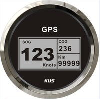 Wholesale Popular design mm digital GPS speedometer with mating antenna black faceplate for inboat marine