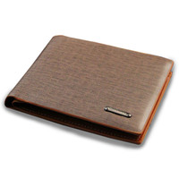 Wholesale European American style men designer leather purse wallet high quality wallets for men