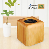 Wholesale Bamboo Portable Bluetooth Speaker Wireless Mini Computer Loudspeakers Subwoofers Car Speaker Natural Sound Handmade Re chargeable Battery