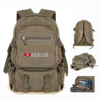 Wholesale Aerlis canvas inch lap top backpacks for men Tactical computer notebook bags