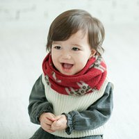 Wholesale Toddler Baby Boys Girls Cat Pattern Imitation Cashmere Scarf Warm Neckerchief Hot Selling