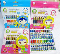Wholesale Pink Blue Assorted Colors Set for Kids Drawing Pencil Painting Supplies Non TOXIC Pastels Crayons